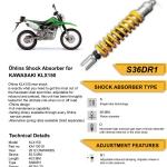 โช๊ค Ohlins สำหรับ Kawasaki KLX D-tracker 125 150
