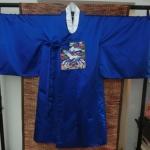Nobility Hanbok Man (DURUMAGI) ฮันบกราชสำนักชายผ้าไหมเกาหลีสีน้ำเงินเข้ม