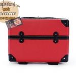 กระเป๋าเดินทางวินเทจ รุ่น retrobox สีแดงคาดดำ ขนาด 13 นิ้ว