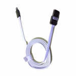 BLL 9026 (Max Output 2.1 A) สาย USB Lightning port For ios Safe&Speed Data สายแบน (สีขาว)