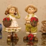 เด็กหญิงเด็กชายชาวไร่เบอร์รี่ (ยืน) สูง 20 cm. (ขายเป็นคู่)