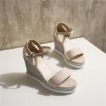 พรีออเดอร์ รองเท้าส้นเตารีด (ครีม,ชมพู,ดำ) ไซส์34-39