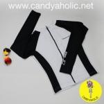 [Size M,L] เสื้อว่ายน้ำ แขนยาว ซิปหน้า รุ่น MINERVA AIR PRO (สีขาวแขนสีดำ)