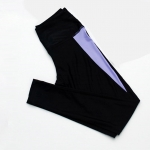 [Size S,M,L] กางเกง Legging ขายาว (สีดำแถบม่วง)