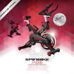 Spin Bike จักรยานออกกําลังกาย: รุ่น 706 สีดำ