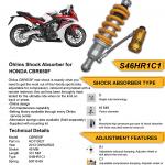 โช๊ค Ohlins สำหรับ Honda CBR650F CB650F