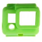 S4-GR Silicone Cover สำหรับกล้อง GoPro Hero3+,Hero4 สีเขียว