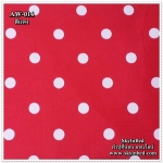 ผ้าปูที่นอนลายจุด เกรด A สีแดง ขนาด 3.5 ฟุต 3 ชิ้น