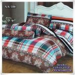 ผ้าปูที่นอน ลายกราฟฟิค เกรด AA ขนาด 6 ฟุต(5 ชิ้น)[AA-106]