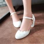 พรีออเดอร์ รองเท้าส้นสูง (ครีม,ขาว,ชมพู) ไซส์33-43