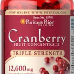 Puritan's Pride Cranberry Fruit Concentrate 12,600 mg / 100 Softgels