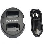 แท่นชาร์จแบตเตอรี่ USB แบบคู่ KINGMA สำหรับ CANON LP-E6