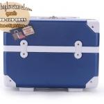 กระเป๋าเดินทางวินเทจ รุ่น retrobox สีน้ำเงินคาดขาว ขนาด 13 นิ้ว