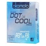 ถุงยางอนามัย OKAMOTO DOT DE COOL (ปุ่มเยอะ เจลเย็น) ถุงยางอนามัยแบบเย็น มีปุ่มสัมผัสมากถึง 1,350 ปุ่ม ขนาด 52 มม