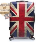 กระเป๋าเดินทางแฟชั่น แนวๆ ลายธงชาติอังกฤษ ขนาด 24 นิ้ว