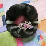 Hanbok hair clips กิ๊ปติดผมฮันบกไซด์กลาง รุ่น sweet purple