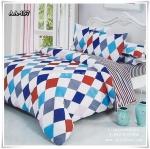ผ้าปูที่นอน ลายกราฟฟิค เกรด AA ขนาด 5 ฟุต(5 ชิ้น)[AA-137]