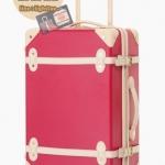 กระเป๋าเดินทางวินเทจ รุ่น colorful ชมพูเข้มคาดชมพูอ่อน ขนาด 20 นิ้ว