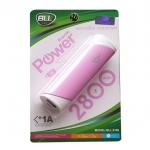 BLL แบตสำรอง 2800 mAh USB 1A - สีชมพู
