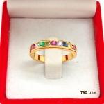 แหวนทองพลอยนพเก้า รหัส JR063