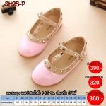 SH28-Pรองเท้าคัชชูเด็กสไตล์วาเลนติโน่ สีชมพู (ไซส์21-36)