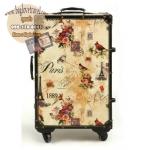 กระเป๋าเดินทางวินเทจ รุ่น vintage classic ลายกราฟฟิค ขนาด 22 นิ้ว