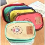 กระเป๋าใส่มือถือ หรือ ของกระจุ๊กกระจิ๊ก สไตล์เกาหลี 2 ช่อง พร้อมสายคล้อง