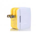 ที่ชาร์จไฟ 2 ช่อง REMAX Charger Dual USB 3.4A สีขาว