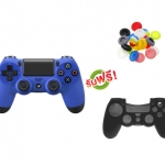 จอย PS4 Dual Shock 4 Blue (ซิลิโคนอนาล็อก + ซิลิโคนจอย) [PS4/PC]