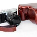 Case หนัง สีช็อคโกแลต สำหรับกล้อง FUJI X-M1 และ X-A1 X-A2