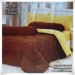 ผ้าปูที่นอนสีพื้น ทูโทน เกรด A (สีเหลืองทอง-น้ำตาลเข้ม) ขนาด 6 ฟุต(5 ชิ้น)