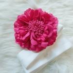 Flower Hair Accessories ดอกไม้ประดับผมสีชมพูเข้ม