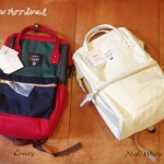 Anello Backpack Canvas Mini Natural White