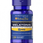 Puritan's Pride Melatonin 5 mg Timed Release ( with Vitamin B-6...10 mg ) / 120 Tablets