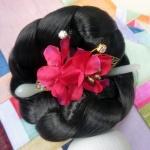 Hanbok hair pin ที่ปักผมฮันบก รุ่นดอกมูกุงฮวา สีแดง
