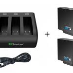 Smatee Charger สามารถชาร์จได้ 3 ช่อง + แบตเตอรี่ GoPro Hero5 แท้ 2 ก้อน แบบเซ็ท