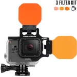 FLIP5 Three Filter Kit with SHALLOW, DIVE & DEEP Filters เป็น Red Filter สำหรับกล้อง GoPro Hero5 ฺBlack, 4, 3, 3+