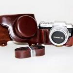 Case หนัง สีช็อคโกแลต สำหรับกล้อง PANASONIC DMC-GF7 GF8
