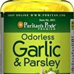 Puritan's Pride Odorless Garlic & Parsley 500 mg / 100 mg-250 Softgels
