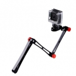 Smatree SmaPole X1 Aluminium Foldable Extension Pole สีแดง with Tripod Mount Adapter + Thumbscrew + Wrench For Gopro Hero 4, 3+, 3, 2, 1 & SJ4000, SJ5000 Cameras
