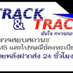 การติดตามสถานะพัสดุ (Track&Trace) จากหน้าเว็บ