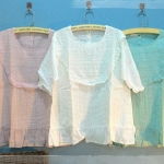 เสื้อลูกไม้ลายสวยหวาน สีโทนพาสเทล