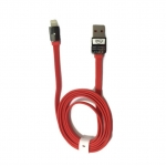 BLL 9026 (Max Output 2.1 A) สาย USB Lightning port For ios Safe&Speed Data สายแบน (สีแดง)