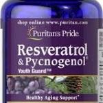 Puritan s Pride Resveratrol 100 mg & Pycnogenol® 30 mg / 30 Softgels