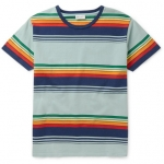 Saint Laurent Striped Crew Neck T Shirt ไซส์ S