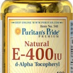 Puritan's Pride Vitamin E-400 iu 100% Natural / 100 Softgels