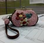 กระเป๋าปิ๊กแป๊ก 10.5cm.สีชมพู