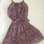 Dress สั้นสายเดี่ยวสีม่วง ราคา 100 บาท