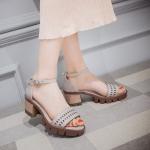 พรีออเดอร์ รองเท้าส้นสูง (เบจ,ดำ,เทา) ไซส์34-39