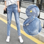 JW5909004 กางเกงยีนส์แฟชั่นเกาหลี ขายาวฮาเร็มของนักเรียน (พรีออเดอร์) รอ 3 อาทิตย์หลังโอนเงิน